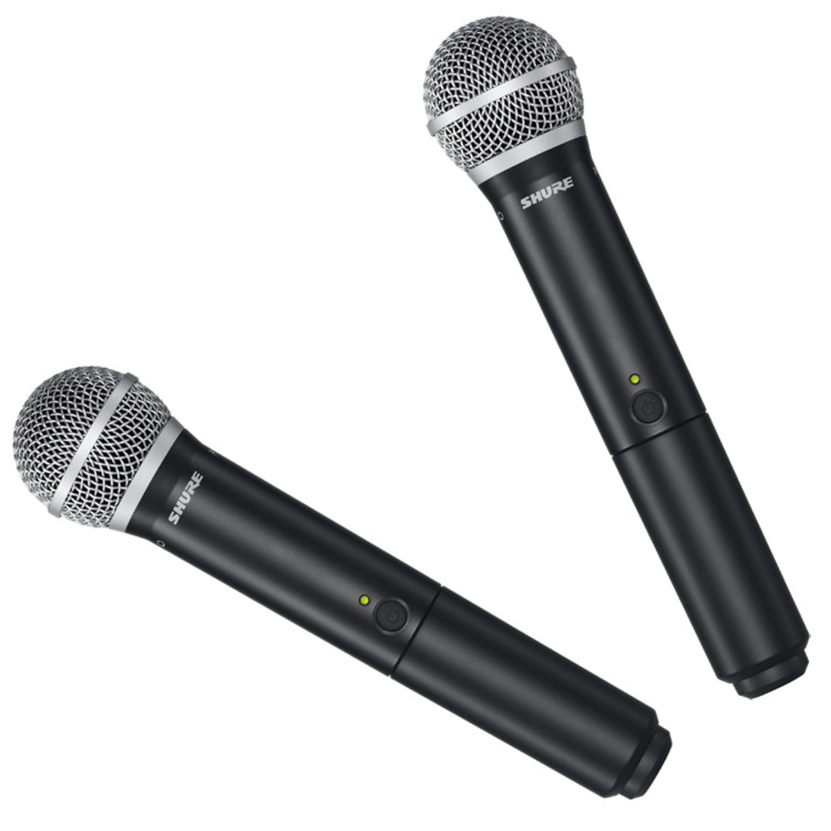 shure blx288uk pg58 dual handheld wireless microphone system exdemo at. Black Bedroom Furniture Sets. Home Design Ideas