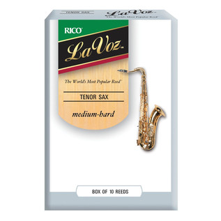 Rico La Voz Tenor Saxophone Reeds Medium Hard, 10 Box