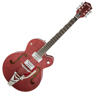 Gretsch G6120SH Brian Setzer Hot Rod, Roman Red 2-Tone/Flame Maple