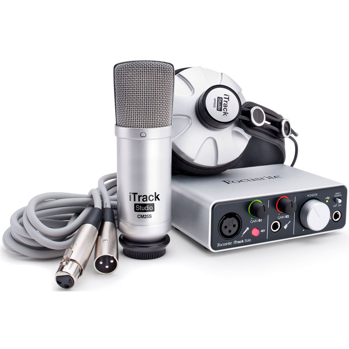 Image of Focusrite iTrack Studio Lightning-Compatible Recording Pack
