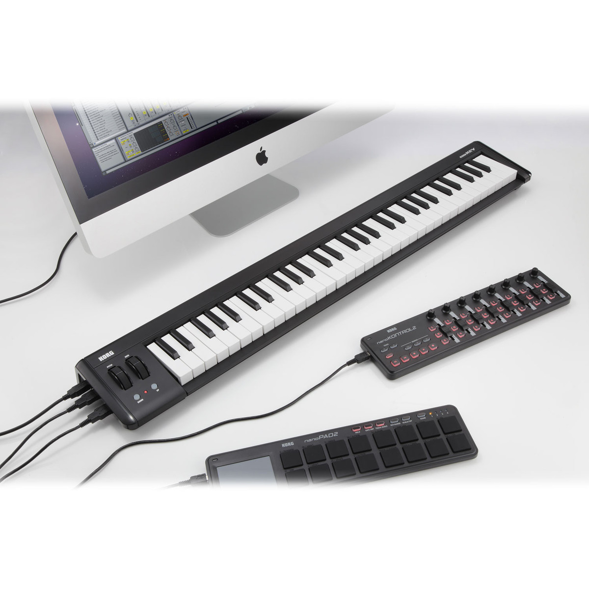 korg microkey 2 61 key usb midi keyboard at. Black Bedroom Furniture Sets. Home Design Ideas