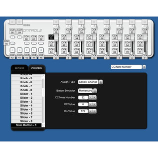 Korg nano KONTROL 2 USB MIDI Controller, Black 6