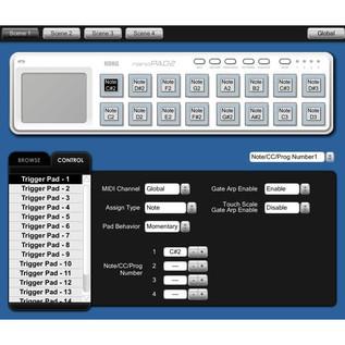 Korg nano PAD 2 USB MIDI Controller, White 4