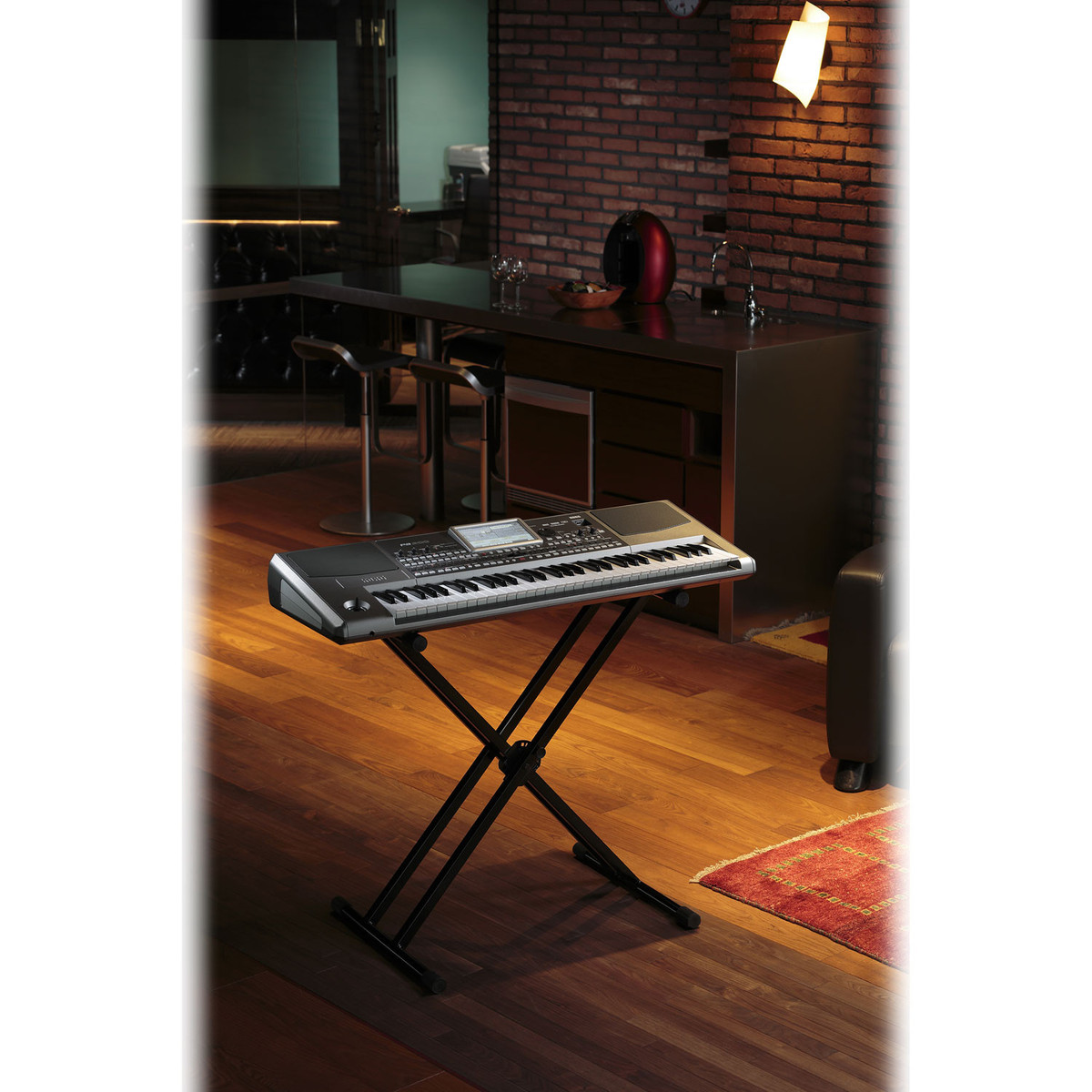 Korg PA900 Professional Arranger Keyboard with Stand and Amplifier 4