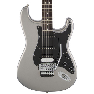 Fender Standard Strat HSS Electric Guitar, Floyd Rose, Ghost Silver