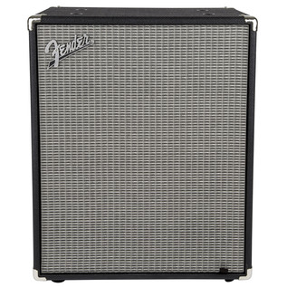 Fender Rumble 2x10 Bass Cabinet, Black/Silver