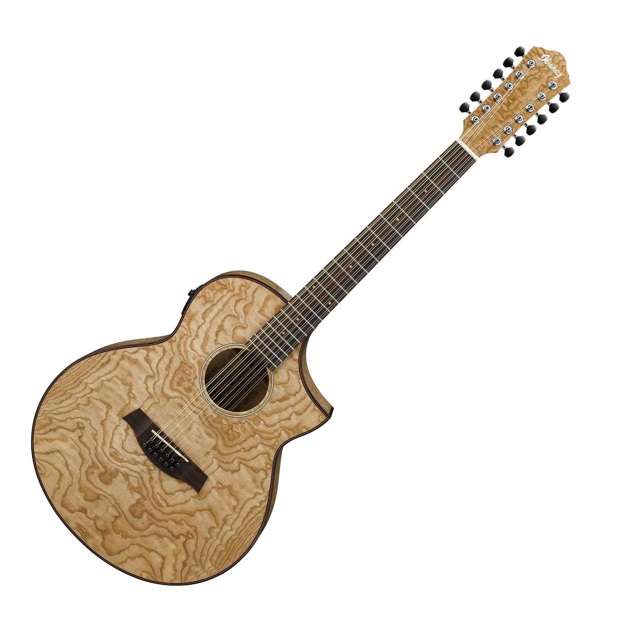 ibanez aew4012as 12 string electro acoustic guitar figured ash at. Black Bedroom Furniture Sets. Home Design Ideas