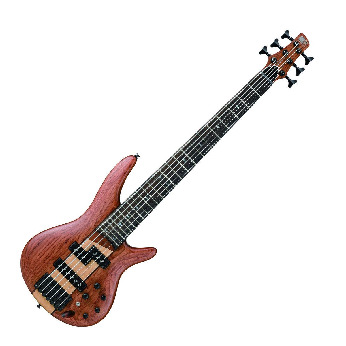 ibanez sr756 ntf 6 string bass guitar natural flat at. Black Bedroom Furniture Sets. Home Design Ideas
