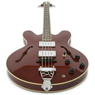 SubZero Detroit Semi Acoustic Bass + RedSub BE100 Amp Pack, Red Wine