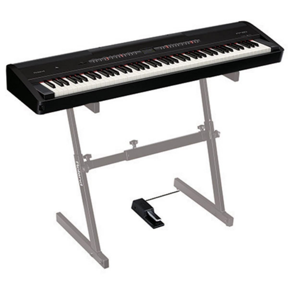 roland fp 80 supernatural digital piano black nearly new at. Black Bedroom Furniture Sets. Home Design Ideas