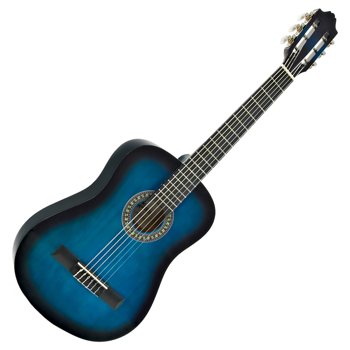 guitare classique junior deluxe bleu par gear4music ex. Black Bedroom Furniture Sets. Home Design Ideas