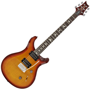 PRS S2 Custom 24 Electric Guitar, Dark Cherry Burst with Bird Inlays