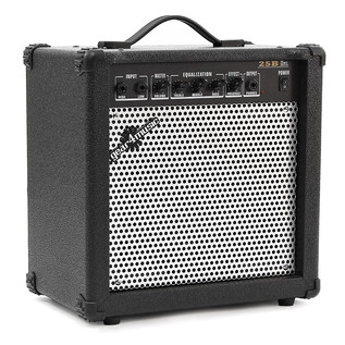 LA Bass Guitar + Amp Pack, Silver Flake