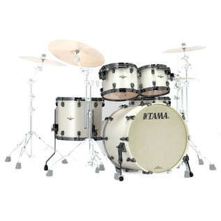 Tama Starclassic Bubinga 22'' 4 Piece Shell Pack, Satin Pearl White