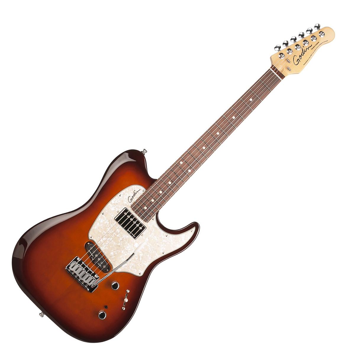 godin session custom 59 electric guitar tobacco sunburst at. Black Bedroom Furniture Sets. Home Design Ideas
