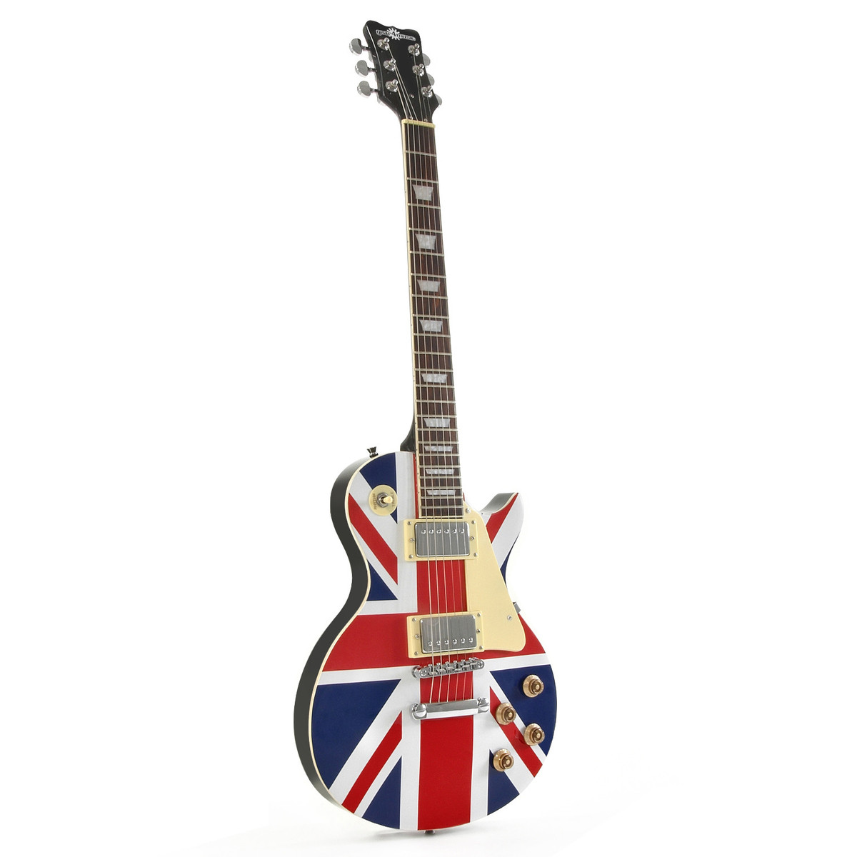 new jersey electric guitar by gear4music union jack nearly new at. Black Bedroom Furniture Sets. Home Design Ideas