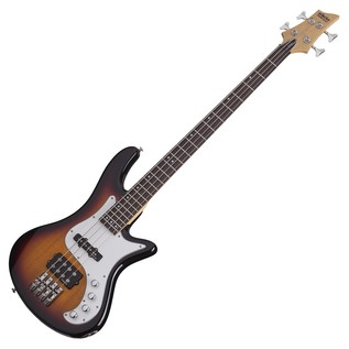 Schecter Stiletto Vintage-4 Bass Guitar, 3-Tone Sunburst