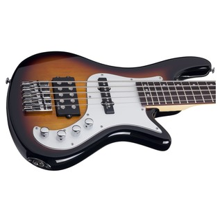 Schecter Stiletto Vintage-5 Bass Guitar, Sunburst