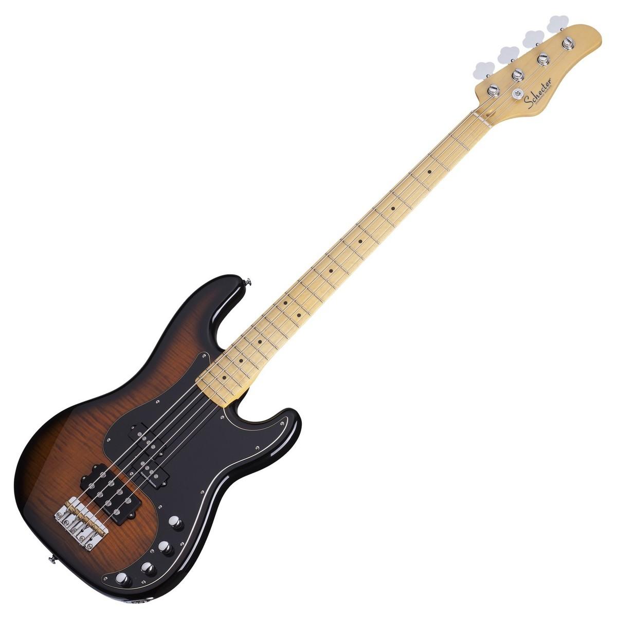 Schecter diamond p plus bass guitar dark vintage sunburst for Guitar domont