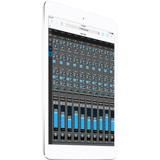 Motu 112D Thunderbolt AVB and USB Audio Interface, iPad Web App