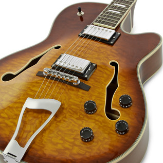 SubZero New Orleans Guitar, Sunburst + SubZero V35RG Amp Pack