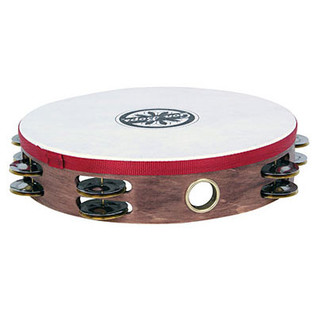 Gon Bops Wooden Tambourine Double-row jingles w/head