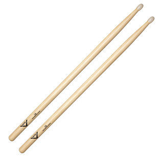 Vater Nude 1A Raw Hickory Drum Sticks, Wood Tip