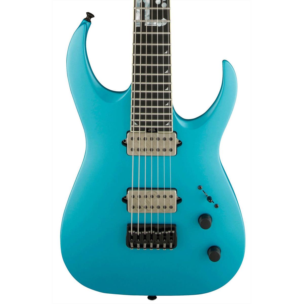 jackson misha mansoor bulb ht 7 electric guitar matte blue frost at. Black Bedroom Furniture Sets. Home Design Ideas
