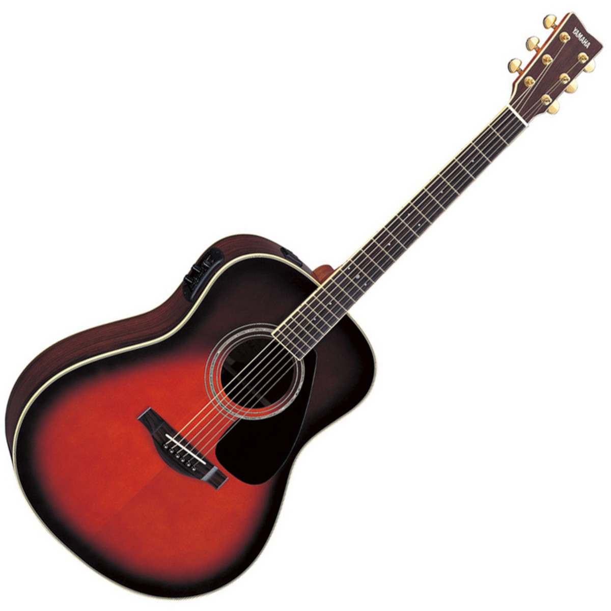 Yamaha llx6a electro acoustic guitar tobacco sunburst for Yamaha acoustic bass guitar