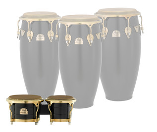 Pearl Elite Series Thai Oak Bongos 7''/9'', Satin Black