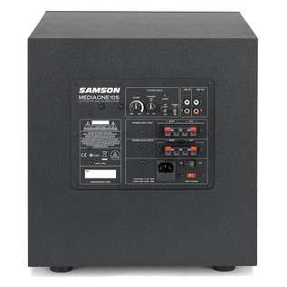 Samson MediaOne 10S Active Subwoofer, Rear Panel