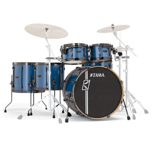 Tama Superstar Hyperdrive Custom Maple 6 Pc Drum Kit, Blue Metallic