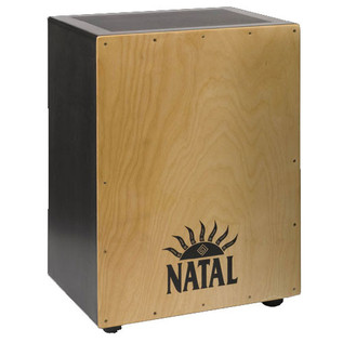 Natal Andante XL Cajon, Snare Wires, Birch Black Natural Face