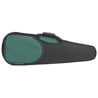 GSJ Shaped 4/4 Violin Case, Black and Green