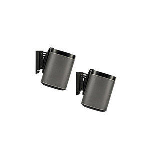 Flexson Wall Mount for SONOS PLAY:1 - Black (Pair)