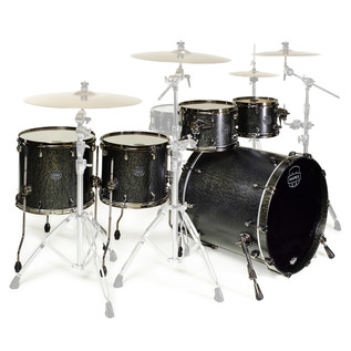 Mapex Saturn V MH Exotic Series Sub Wave Twin, Flat Black Maple Burl