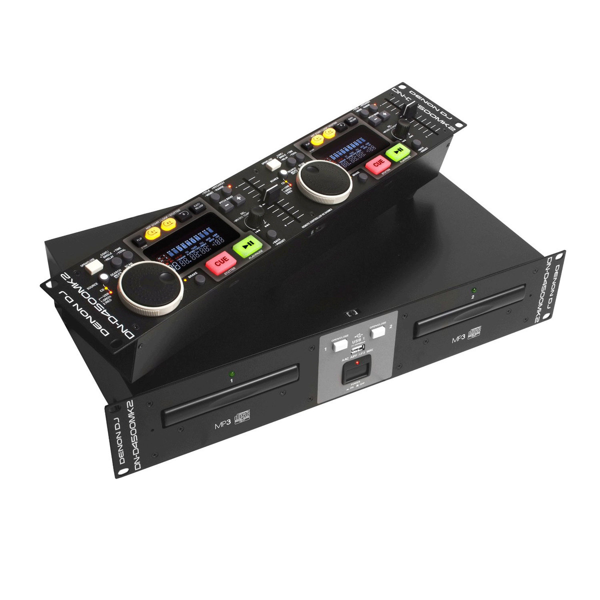 denon dj dnd4500mk2 rackmount twin cd player with usb. Black Bedroom Furniture Sets. Home Design Ideas