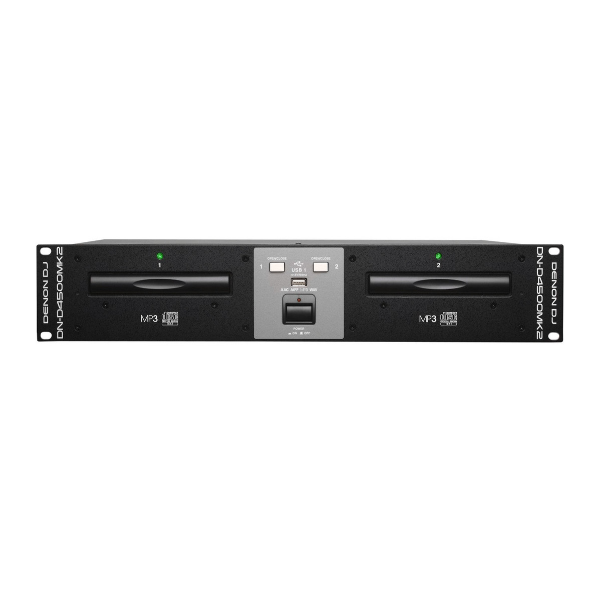 denon dj dnd4500mk2 rackmount twin cd player with usb playback at. Black Bedroom Furniture Sets. Home Design Ideas