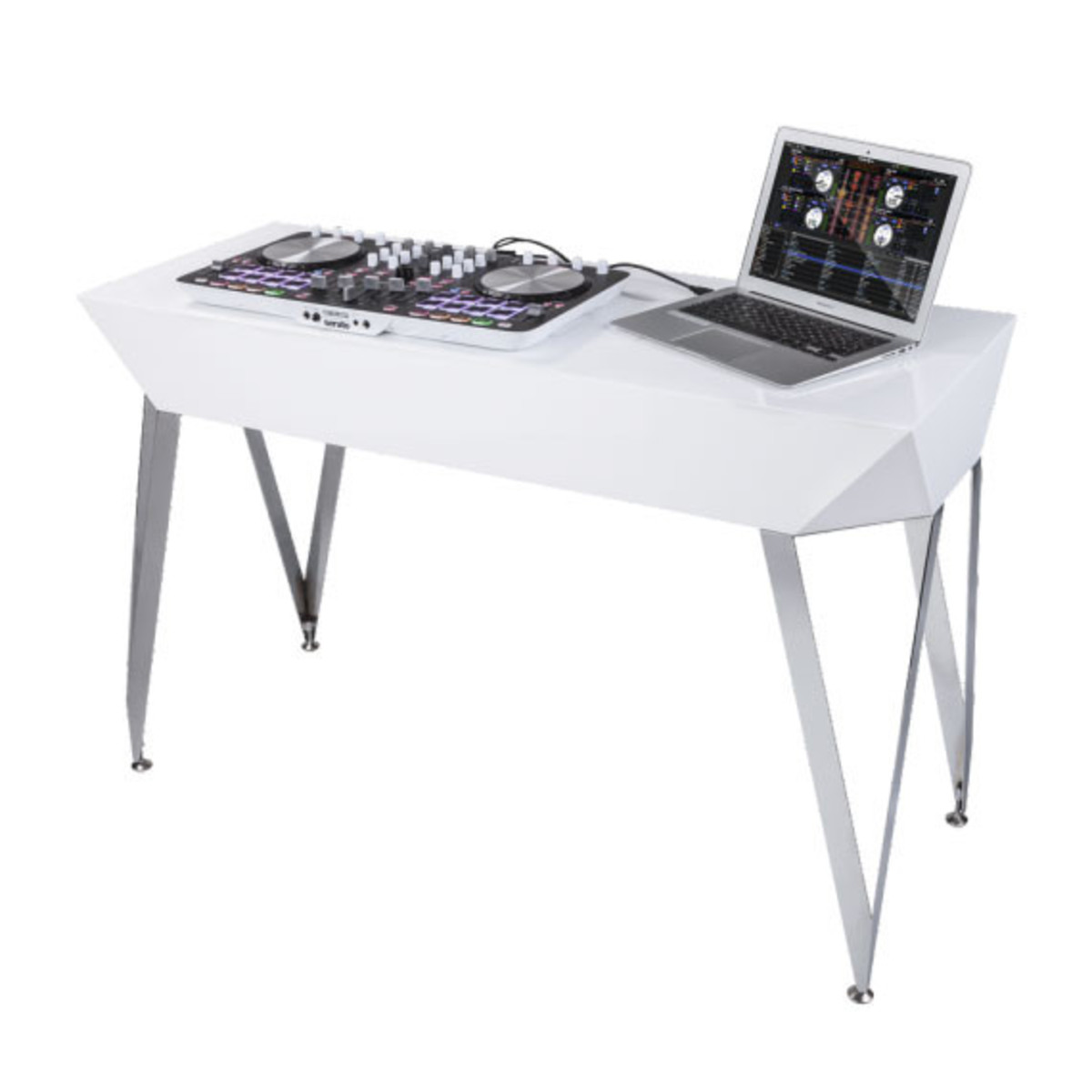 glorious diamond dj table white at. Black Bedroom Furniture Sets. Home Design Ideas