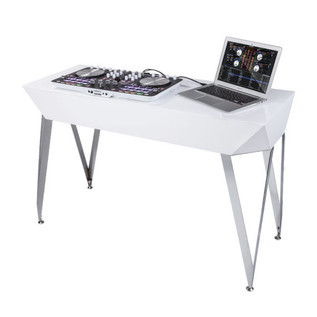 Glorious Diamond DJ Table, White 4
