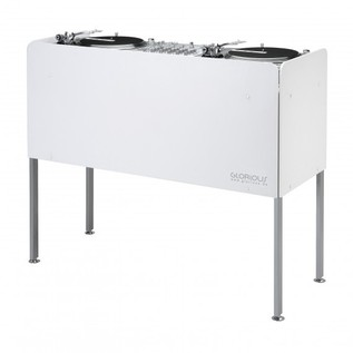 Glorious Cockpit Deluxe DJ Booth, White