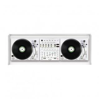 Glorious Cockpit Deluxe DJ Booth, White 4