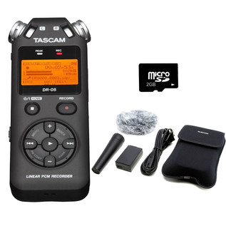 Tascam DR-05 Portable Handheld Audio Recorder Bundle