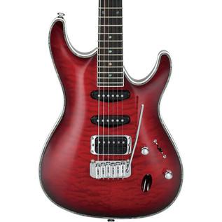 Ibanez SA360QM SA Series Electric Guitar, Trans Red Burst
