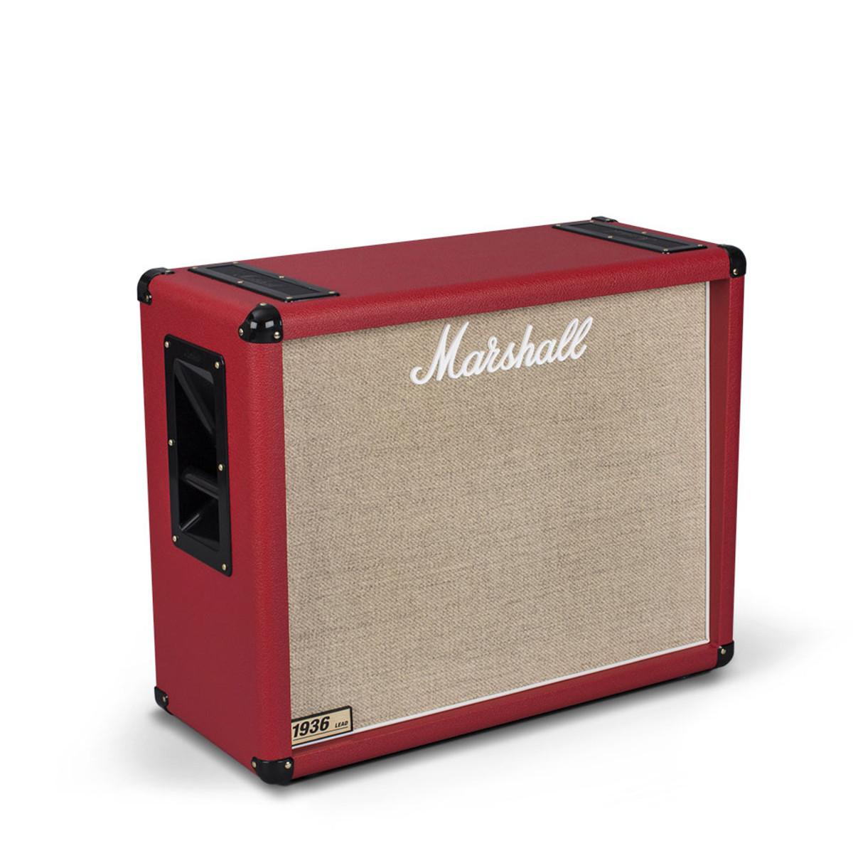 marshall 1936 2x12 guitar speaker cab red at. Black Bedroom Furniture Sets. Home Design Ideas