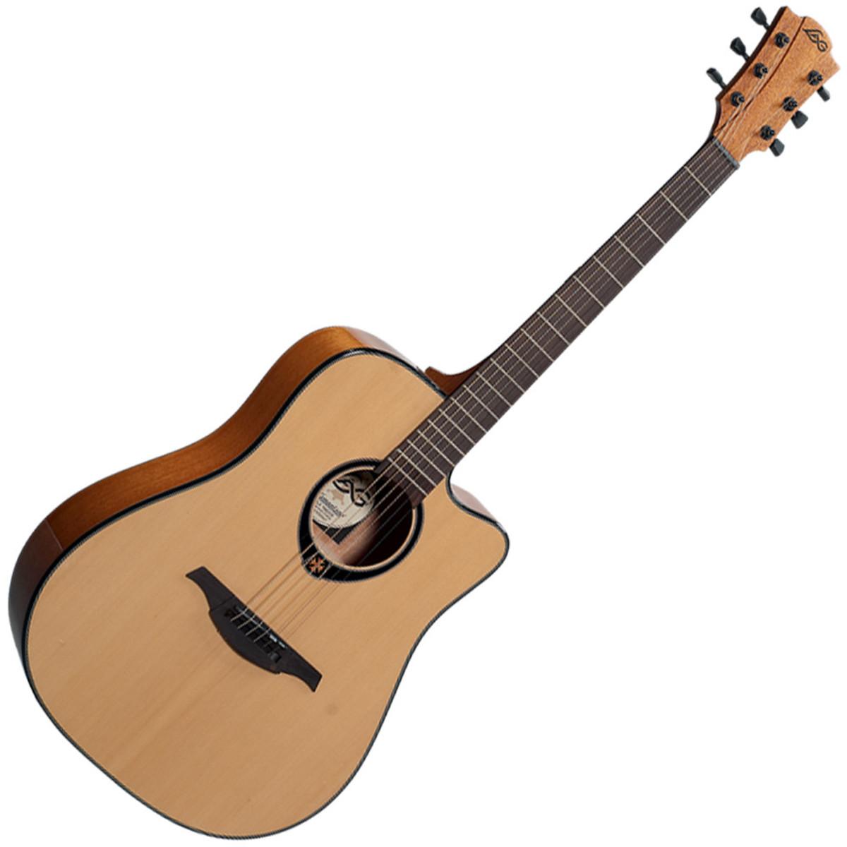 disc lag tramontane t66dc dreadnought cutaway acoustic guitar at. Black Bedroom Furniture Sets. Home Design Ideas