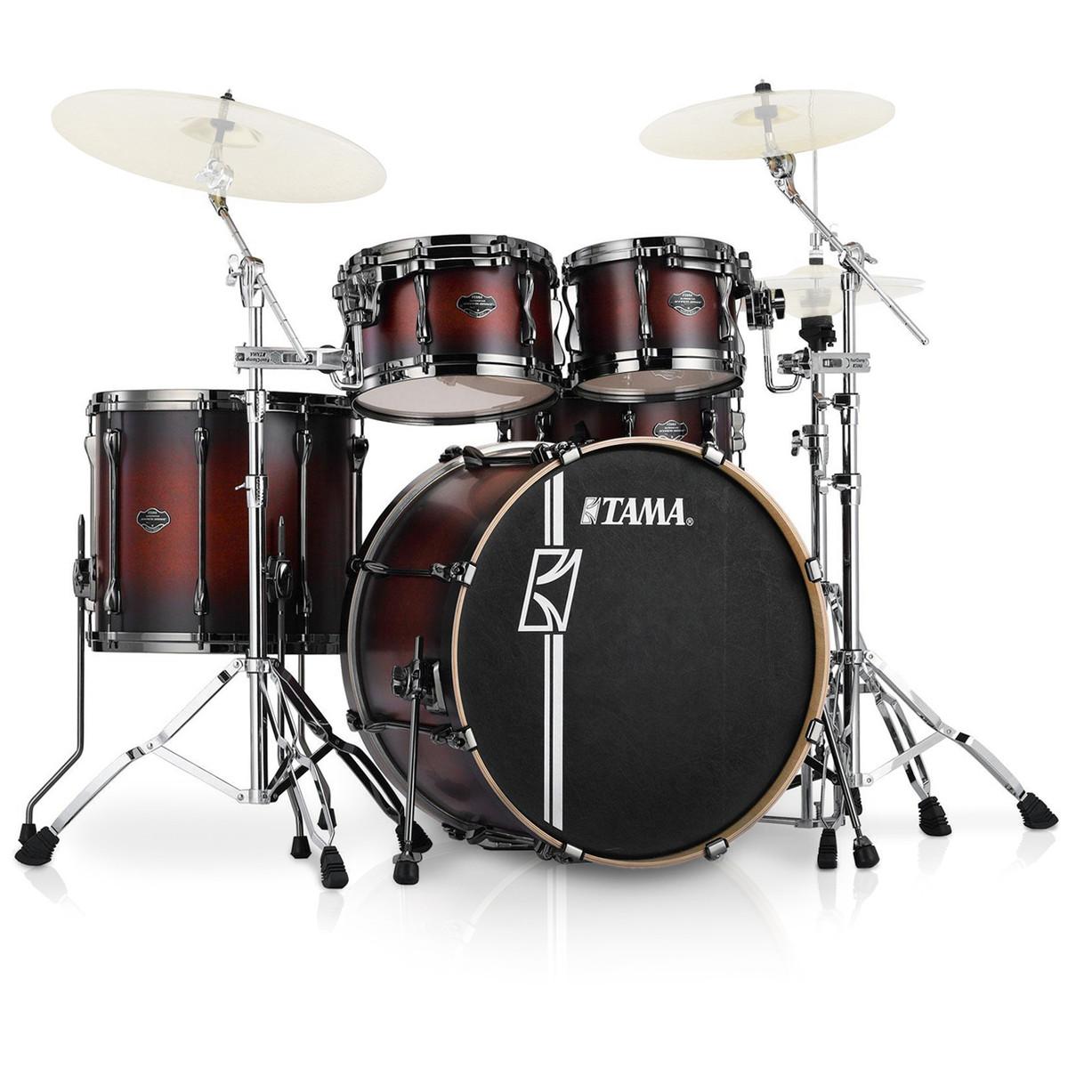 tama superstar hyperdrive custom maple 5 pc drum kit satin cherry at. Black Bedroom Furniture Sets. Home Design Ideas