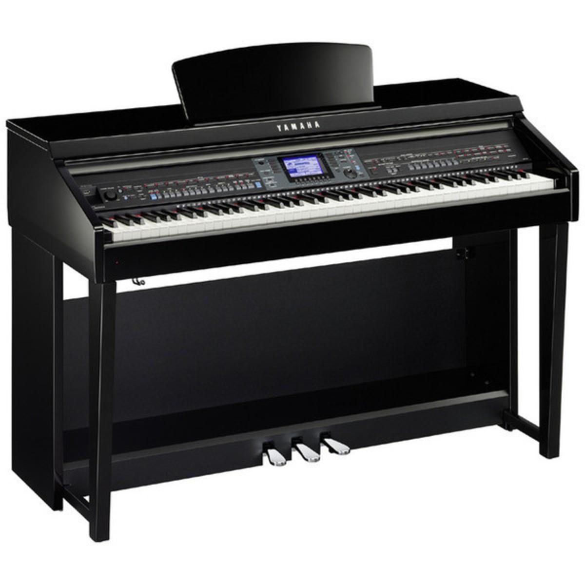 Disc yamaha clavinova cvp601 digital piano polished ebony for Yamaha digital piano clavinova