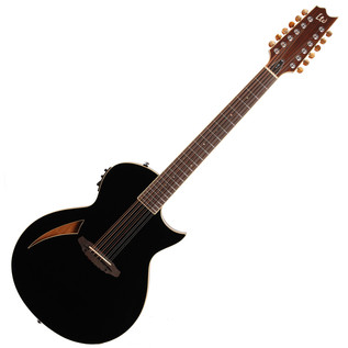 ESP LTD TL-12 12-String Electro-Acoustic Guitar, Black