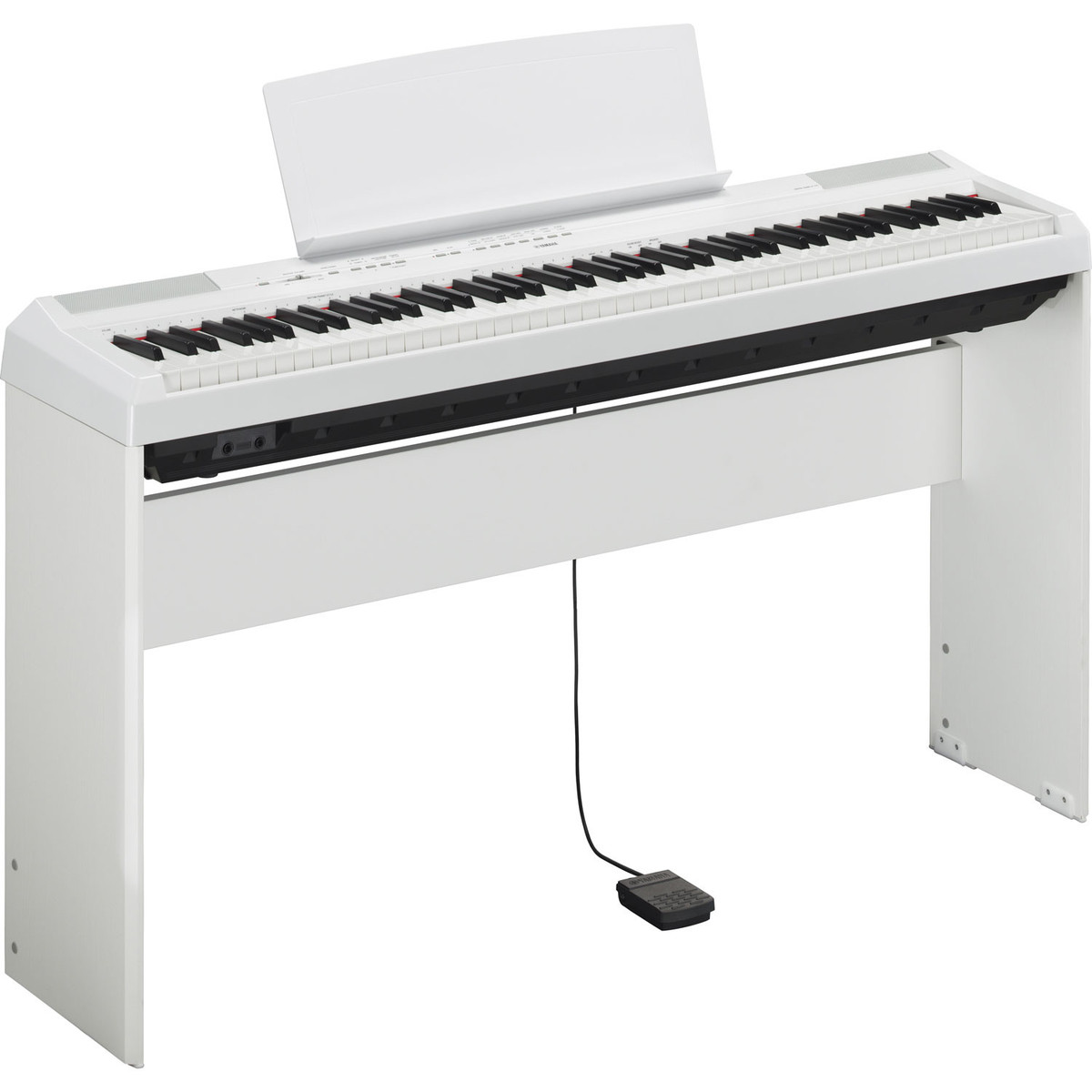 yamaha p 115 digital piano white at. Black Bedroom Furniture Sets. Home Design Ideas